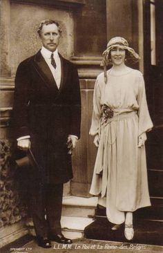 King Albert I and Queen Elisabeth of Belgium. The paternal grandparents of the current King of Belgium.