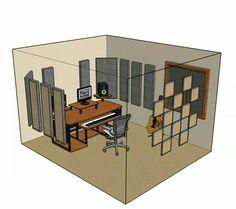 Home studio acoustics panels diy