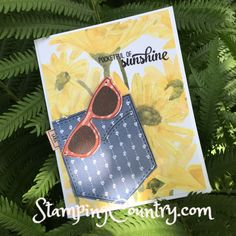 Pocket full of Sunshine, Card, Stampin' Up! #handmadewithlove