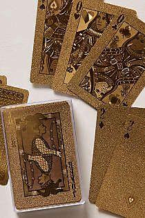 Anthropologie - Metallic Playing Cards