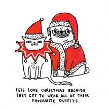 Pets Love Christmas Card by @Gemma Docherty Correll