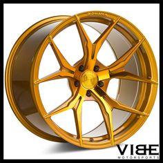 "20"" ROHANA RFX5 GOLD FORGED CONCAVE WHEELS RIMS FITS NISSAN GT-R #Rohana #rfx5 #wheels #forged #nissan #gtr #vibemotorsports"