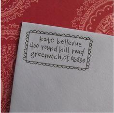 Hand-Lettering Shop Letter-girl hand-lettered address stamp on Etsy Envelope Lettering, Envelope Art, Envelope Design, Calligraphy Envelope, Mail Art Envelopes, Addressing Envelopes, Letter Addressing, Pen Pal Letters, Love Letters