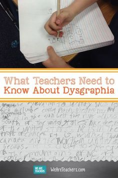 Dysgraphia is a learning disability that affects writing, making many tasks difficult. Learn how teachers can help students with dysgraphia succeed. Dyslexia Teaching, Teaching Writing, Student Teaching, Teaching Tools, Dyslexia Activities, Teaching Ideas, Teaching Biology, Teaching Spanish, Stem Activities