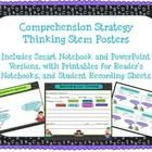 Reader's Notebook Comprehension Strategy Thinking Stems...gives kids a visual to glue into their Reader's Notebooks to help them respond to their thinking. Includes SMARTBoard and PowerPoint versions for mini-lessons. $