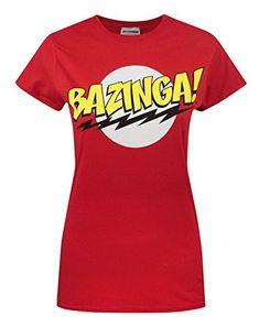Official Big Bang Theory Bazinga Womens T-Shirt (L) @ niftywarehouse.com
