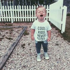 Cool Kids Never Sleep baby graphic tee - Little Beans Clothing  hipster baby, baby boy clothing, baby boy tshirts, kids fashion