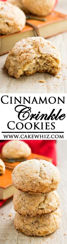 Deliciously soft and cake-like CINNAMON CRINKLE COOKIES with a crispy, crackly, sugary cinnamon topping that's to die for! Great for the holiday season. {Ad} From cakewhiz.com #BakeMagicMoments #Target