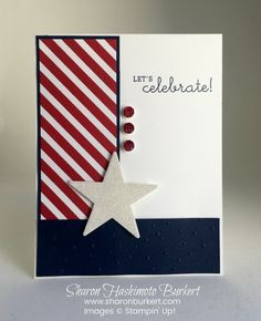 Make your own patterned paper with the Diagonal Stripe Background stamp from Stampin' Up!