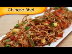 #Indian -- Chinese Bhel  By Ruchi Bharani [HD] --- another website w/ Recipe(use this one)  #Video http://www.indianrecipevideo.com/Pages/ChineseBhel.aspx