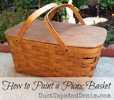 How to paint a picnic basket | DuctTapeAndDenim.com