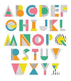 geometric alphabet - Pesquisa Google