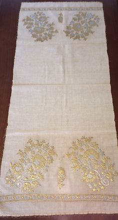 This is a beautiful example of Ottoman-Turkish embroidered yaglık / napkin . It is in length and in width. The height of***** Floral Embroidery, Hand Embroidery, Embroidered Towels, Kaftan, Stitching, Ottoman, Sewing, Trending Outfits, Antiques