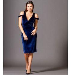 Βελούδινο Φόρεμα με βε και Ανοιχτή Πλάτη - Μπλε Ρουά Party Dress, Shoulder Dress, Formal Dresses, Wedding, Fashion, Dresses For Formal, Valentines Day Weddings, Moda, Formal Gowns