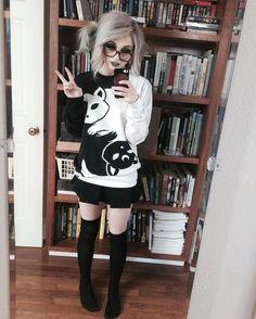 Sailor moon cats Ying yang sweater