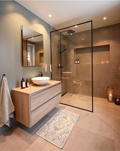 Umbau Badezimmer You are in the right place about modern interior wood Here we offer you the most beautiful pictures about the modern interior studio you are looking for. When you examine the Umbau Ba Bad Inspiration, Bathroom Inspiration, Modern Bathroom, Small Bathroom, Bathroom Ideas, Bathroom Renovations, Bathroom Organization, Bathroom Storage, Bathroom Showers