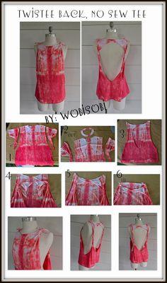 WobiSobi: No Sew, Tie Dyed, Twisted Back Tee: DIY