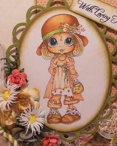 INSTANT DOWNLOAD Digital Digi Stamps Big Eye Big Head Dolls Digi IMG884 By…