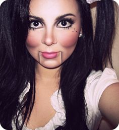 ventriloquist dummy makeup by sandramariewashere, via Flickr