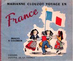Marianne Clouzot, Voyage en France, images à colorier, 1948