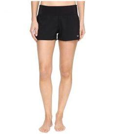 Nike Core Solid Seperates Swim Boardshorts (Black) Women's Swimwear
