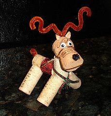 Wine Cork Reindeer