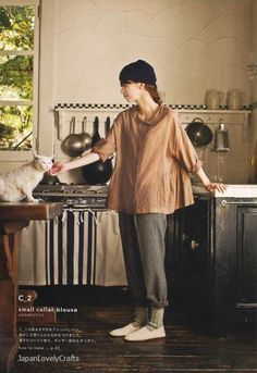 Simple Chic - Tomomi Okawa - Japanese Sewing Pattern Book for Women Clothing - Stylish Clothes, Pants, Easy Dress, Blouse, Tunic - Sewing Clothes Women, Sewing Pants, Diy Clothes, Dress Sewing, Woman Clothing, Mori Fashion, Fashion Sewing, Womens Fashion, Japanese Sewing Patterns