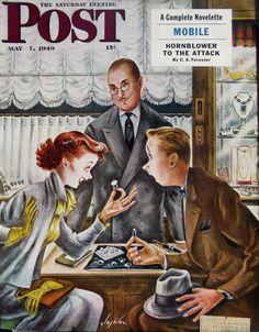 1949 Constantin Alajalov art for Saturday Evening Post  |  #RetroReveries