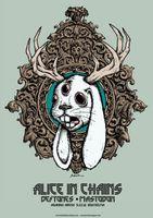 Alice in chains / deftones / mastodon Classic heavy metal rock psychedelic music poster  ☮~ღ~*~*✿⊱  レ o √ 乇 !! ~.