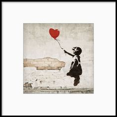 Bansky graffiti, Girl and balloon