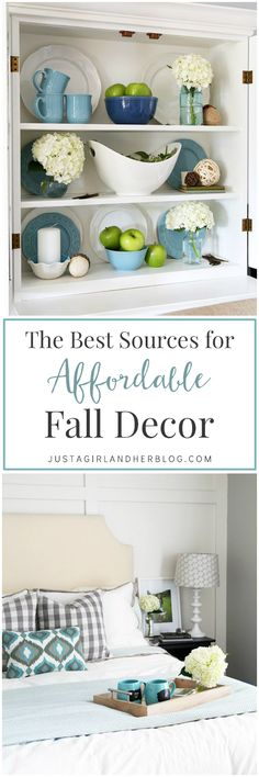Seasonal decorating doesn't have to be expensive! These are great ideas about how to get decor inexpensively! | JustAGirlAndHerBlog.com
