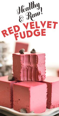 Healthy Raw Red Velvet Fudge Recipe In 2018 Food Healthy Vegan Desserts, Raw Desserts, Sugar Free Desserts, Vegan Meals, Vegan Food, Healthy Snacks, Paleo, Healthy Recipes, No Carb Recipes