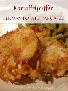 Lightly fried shredded potato pancakes are the best German appetizer or side dish you can have to compliment apple sauce or even apple butter. Easy German Recipes, Amish Recipes, Vegetable Recipes, Potato Recipes, Cooking Recipes, Austrian Recipes, German Appetizers, German Potato Pancakes, German Potatoes