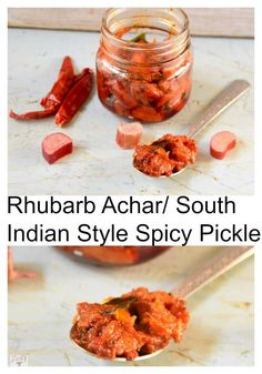 Rhubarb Achar / South Indian Style Rhubarb Pickle - Zesty South Indian Kitchen