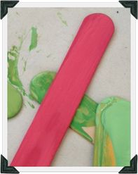 Chalk Paint™ by Annie Sloan Recipe for Hot Pink: 2 oz Pure White + 1.5 oz Emperor's Silk (mixed by 'Round The Coop)