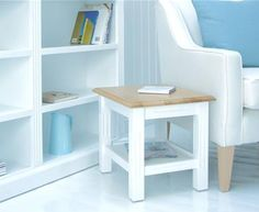 New England White Side Table