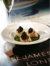 Saint-Jacques au cresson et caviar - une recette Fête - Cuisine