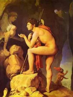 Oedipus Explains the Riddle of the Sphinx: Jean Auguste Dominique Ingres