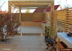 pergola,sittbänk,utebelysning,altan,trädäck
