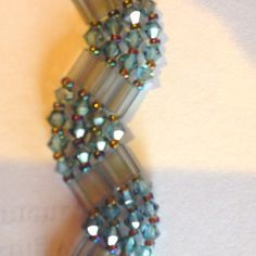 Blue crystal wave bracelet