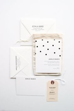 Polkadot Baby Announcements & Stationery Set por inhauspress, $350.00