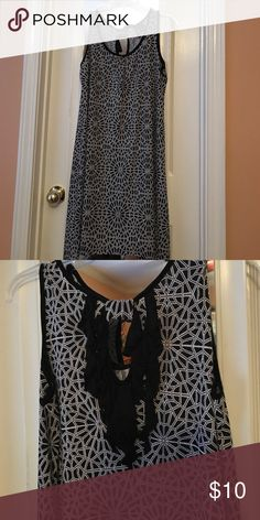 Shift dress Very gently worn just a few times. Shift dress longer on sides knee length. Sleeveless with keyhole in back.  Great for summer. new directions Dresses Asymmetrical
