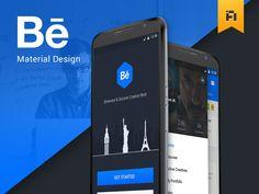 """다음 @Behance 프로젝트 확인: """"Behance Material Design"""" https://www.behance.net/gallery/29703835/Behance-Material-Design"""