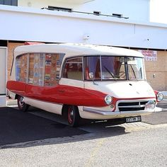 Citroen camper, or possibly something from the Jetson's, maybe both.