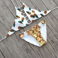 Aliexpress.com: Compre 2016 Sexy Alta Neck Halter Colheita Mulheres Bikinis Swimsuit Bandage Swimwear Impressão Frutas Conjunto Bikini Brasileiro Maiôs Swim Wear de confiança bikini string fornecedores em MY BIKINI