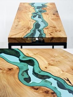 wood/glass table
