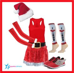 Are you looking for a costume for a Christmas race? Sparkle Athletic has you covered! This Santa Inspired Running Costume would be PERFECT for a holiday run.