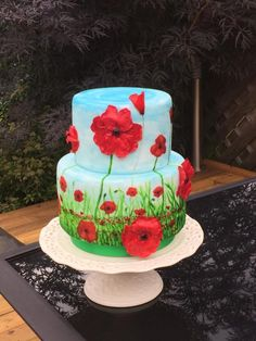 A charming flower of sweets with your own hands. Bright poppies with a secret inside