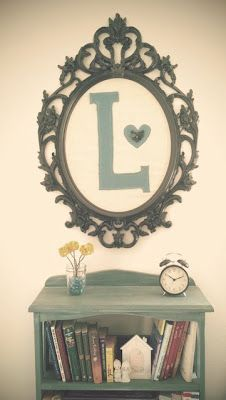 frame with initial. i love this!!