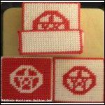 Red Pentagram Coasters